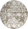 rug #1080514 | round mid-brown rug