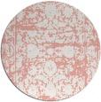 rug #1080586 | round pink damask rug
