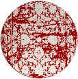 rug #1080606   round red faded rug