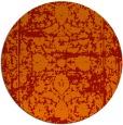 rug #1080610 | round red damask rug