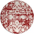 rug #1080614   round red traditional rug