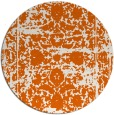 rug #1080634 | round red-orange traditional rug