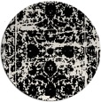 rug #1080642 | round white faded rug