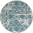 rug #1080662 | round white faded rug