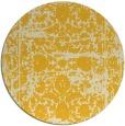 rug #1080670 | round yellow damask rug