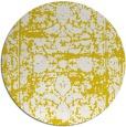 rug #1080678 | round yellow damask rug