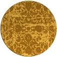 rug #1080682 | round light-orange traditional rug