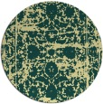 rug #1080686 | round blue-green faded rug