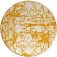 rug #1080706 | round light-orange damask rug