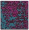 rug #1081174 | square blue-green damask rug