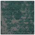 rug #1081222 | square green damask rug