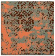 rug #1081306 | square red-orange abstract rug