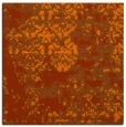 rug #1081358 | square red-orange abstract rug