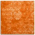rug #1081362 | square red-orange damask rug