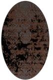 rug #1081466 | oval black traditional rug