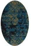 rug #1081486 | oval mid-brown faded rug