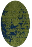 rug #1081502 | oval green abstract rug