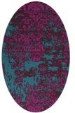rug #1081542   oval pink damask rug