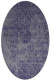 rug #1081550 | oval blue-violet traditional rug