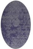 rug #1081551 | oval faded rug