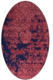 rug #1081554   oval pink damask rug
