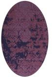 rug #1081558 | oval purple traditional rug