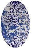 rug #1081562 | oval blue-violet rug