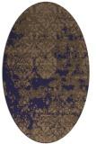 rug #1081566 | oval beige abstract rug
