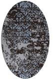 rug #1081570   oval blue-violet traditional rug