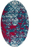 rug #1081578 | oval red damask rug