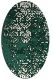 rug #1081594 | oval blue-green abstract rug