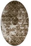 rug #1081617 | oval abstract rug