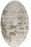 rug #1081618 | oval mid-brown faded rug