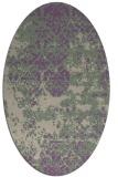 rug #1081642 | oval purple faded rug