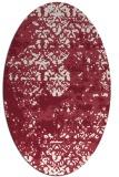 rug #1081682   oval pink damask rug