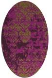 rug #1081698 | oval purple faded rug