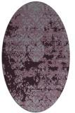 rug #1081706 | oval purple faded rug