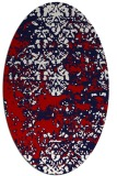 rug #1081710 | oval red traditional rug
