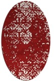 rug #1081718 | oval red traditional rug