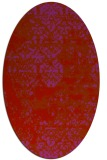 rug #1081722 | oval red faded rug