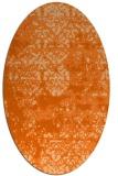 rug #1081730 | oval red-orange graphic rug