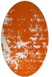 rug #1081738   oval red-orange faded rug