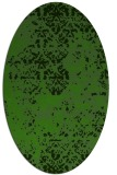 rug #1081742 | oval green abstract rug