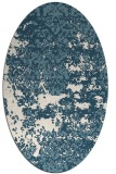 rug #1081766 | oval white faded rug