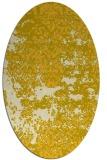 rug #1081774 | oval yellow faded rug