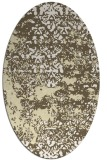 rug #1081778 | oval white faded rug