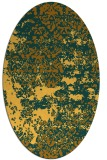 rug #1081786 | oval yellow traditional rug
