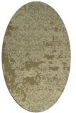 rug #1081798 | oval light-green abstract rug