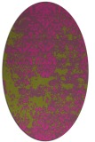 rug #1081802 | oval light-green faded rug