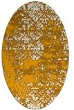 rug #1081810 | oval light-orange faded rug